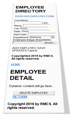Employee Directory with jQuery Mobile
